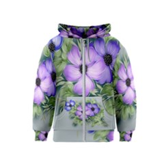 Flowers Vector Illustration Figure Kids  Zipper Hoodie