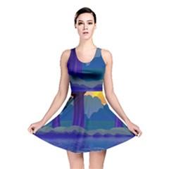 Illustration Vector Forest Nature Reversible Skater Dress by Pakrebo