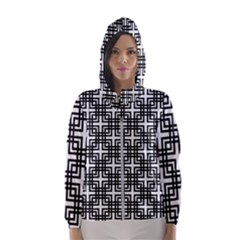 Pattern Vector Halftone Wallpaper Hooded Windbreaker (women) by Pakrebo
