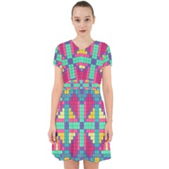 Checkerboard Squares Abstract Adorable In Chiffon Dress by Pakrebo