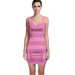 Pink Stripes Striped Design Pattern Bodycon Dress by Pakrebo
