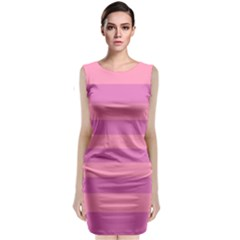 Pink Stripes Striped Design Pattern Classic Sleeveless Midi Dress by Pakrebo