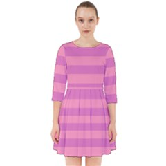 Pink Stripes Striped Design Pattern Smock Dress by Pakrebo