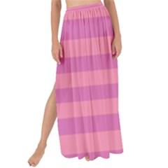 Pink Stripes Striped Design Pattern Maxi Chiffon Tie-up Sarong by Pakrebo
