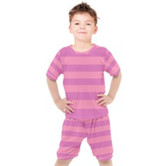 Pink Stripes Striped Design Pattern Kid s Set by Pakrebo