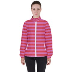 Stripes Striped Design Pattern High Neck Windbreaker (women) by Pakrebo