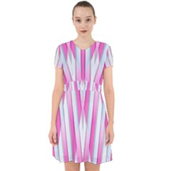 Geometric 3d Design Pattern Pink Adorable In Chiffon Dress by Pakrebo