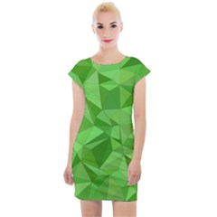 Mosaic Tile Geometrical Abstract Cap Sleeve Bodycon Dress by Pakrebo
