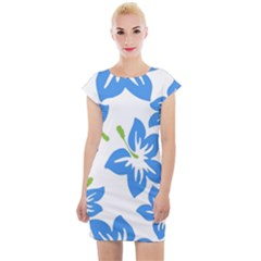 Hibiscus Wallpaper Flowers Floral Cap Sleeve Bodycon Dress by Pakrebo