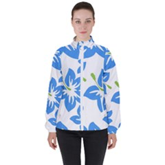Hibiscus Wallpaper Flowers Floral High Neck Windbreaker (women)