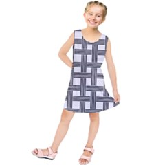 Seamless Stripe Pattern Lines Kids  Tunic Dress