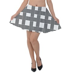 Seamless Stripe Pattern Lines Velvet Skater Skirt by Pakrebo