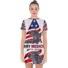 U S  Army Medicine Logo Drop Hem Mini Chiffon Dress by abbeyz71