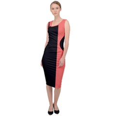 Black & Coral Sleeveless Pencil Dress by TimelessFashion