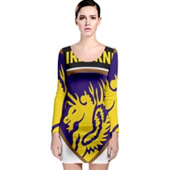 Shoulder Sleeve Insignia Of The United States Army 13th Airborne Division Long Sleeve Bodycon Dress by abbeyz71