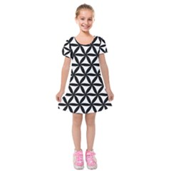 Pattern Floral Repeating Kids  Short Sleeve Velvet Dress