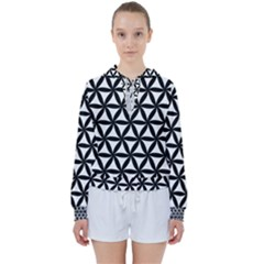 Pattern Floral Repeating Women s Tie Up Sweat by Pakrebo