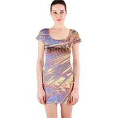 Flourish Artwork Fractal Expanding Short Sleeve Bodycon Dress by Pakrebo