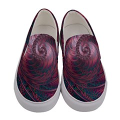Fractal Artwork Digital Pattern Women s Canvas Slip Ons