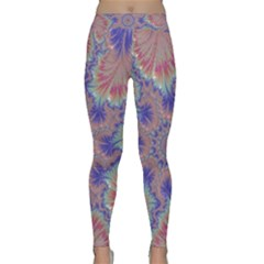 Purple Splat Fractal Art Classic Yoga Leggings by Pakrebo