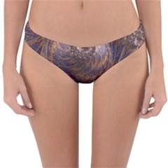 Swirl Fractal Fantasy Whirl Reversible Hipster Bikini Bottoms by Pakrebo