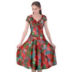 Redness Cap Sleeve Wrap Front Dress by artifiart