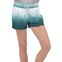 Azure Noise Waves Women s Velour Lounge Shorts by goljakoff