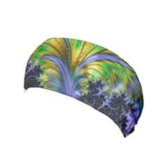 Fractal Gothic Dark Texture Yoga Headband by Pakrebo