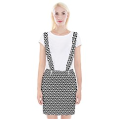 White Line Wave Black Pattern Braces Suspender Skirt