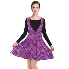 Purple Pattern Background Plunge Pinafore Dress by Pakrebo