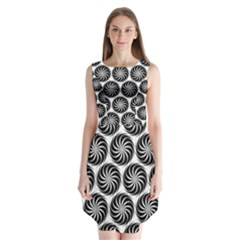 Pattern Swirl Spiral Repeating Sleeveless Chiffon Dress   by Pakrebo