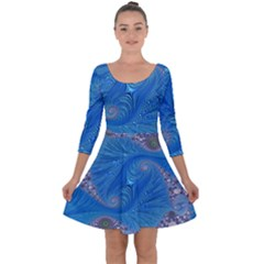 Fractal Artwork Artwork Fractal Art Quarter Sleeve Skater Dress