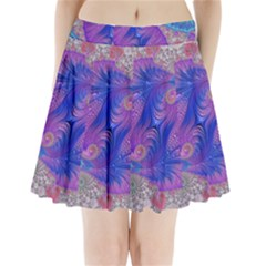Fractal Artwork Art Design Pleated Mini Skirt
