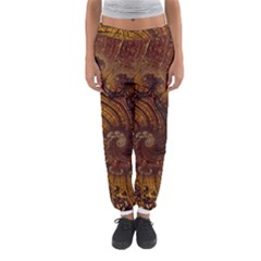 Copper Caramel Swirls Abstract Art Women s Jogger Sweatpants by Pakrebo