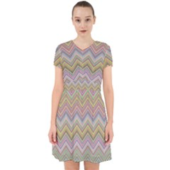 Chevron Colorful Background Vintage Adorable In Chiffon Dress by Pakrebo