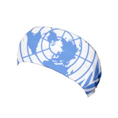 Blue Emblem Of United Nations Yoga Headband