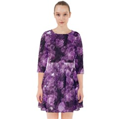 Amethyst Purple Violet Geode Slice Smock Dress by genx