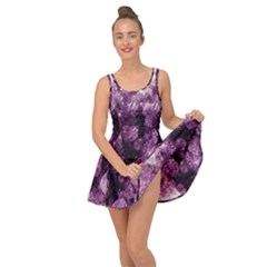 Amethyst Purple Violet Geode Slice Inside Out Casual Dress by genx