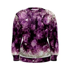 Amethyst Purple Violet Geode Slice Women s Sweatshirt by genx