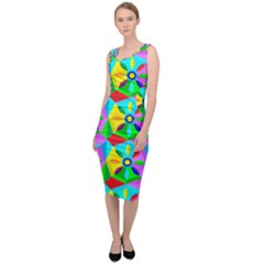 Star Texture Template Design Sleeveless Pencil Dress by Pakrebo
