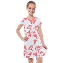 Floral In Coral  Kids  Cross Web Dress by TimelessFashion