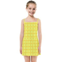 Traditional Patterns Chrysanthemum Kids  Summer Sun Dress