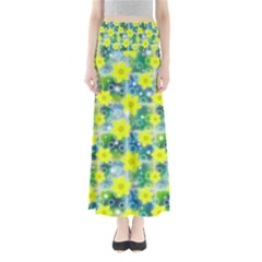 Narcissus Yellow Flowers Winter Full Length Maxi Skirt