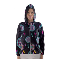 Dreamcatcher Seamless American Hooded Windbreaker (women) by Pakrebo