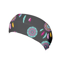 Dreamcatcher Seamless American Yoga Headband by Pakrebo