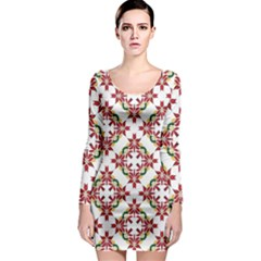 Christmas Wallpaper Background Long Sleeve Bodycon Dress