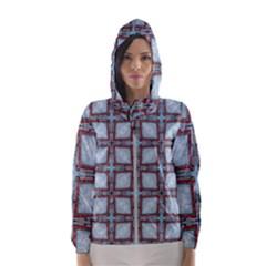 Pattern Cross Geometric Shape Hooded Windbreaker (women) by Pakrebo