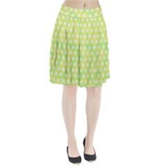 Traditional Patterns Hemp Pattern Green Pleated Skirt