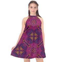 Backdrop Background Cloth Colorful Halter Neckline Chiffon Dress
