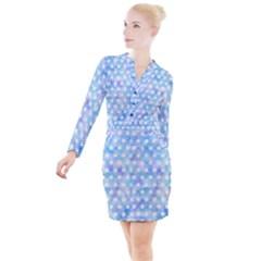 Traditional Patterns Hemp Pattern Button Long Sleeve Dress by Pakrebo